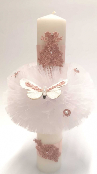 Lumanare Botez cu Fluture [2]