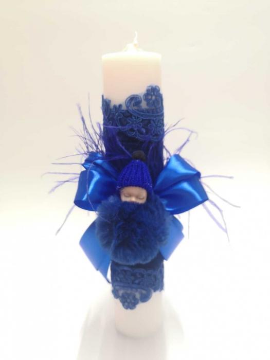 Lumanare Botez – Albastru [2]