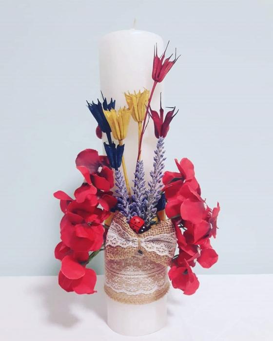 Lumanare Botez Orhidee - Lucrata Manual [0]
