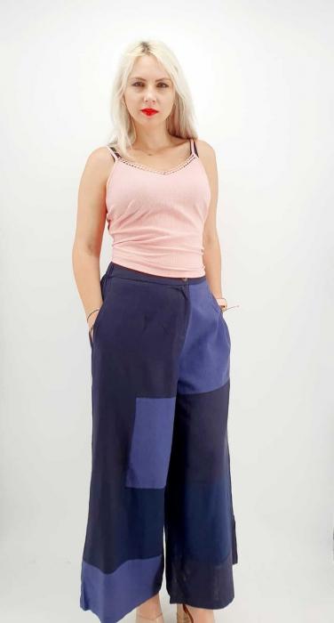 Pantaloni Salvari de vara bleumarin [2]