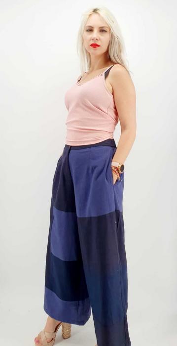 Pantaloni Salvari de vara bleumarin [3]