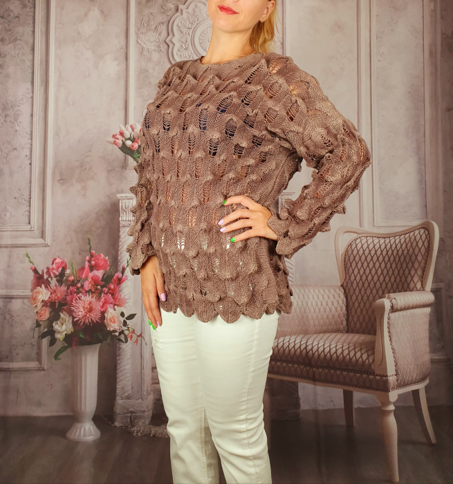 Pulover dama tricotat 3D - Sorana [1]