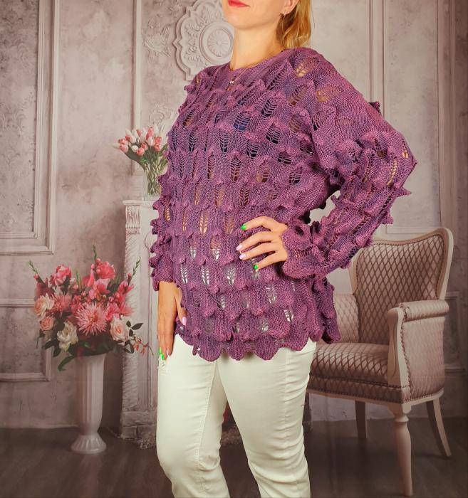 Pulover dama tricotat 3D - Sorana 6 [1]