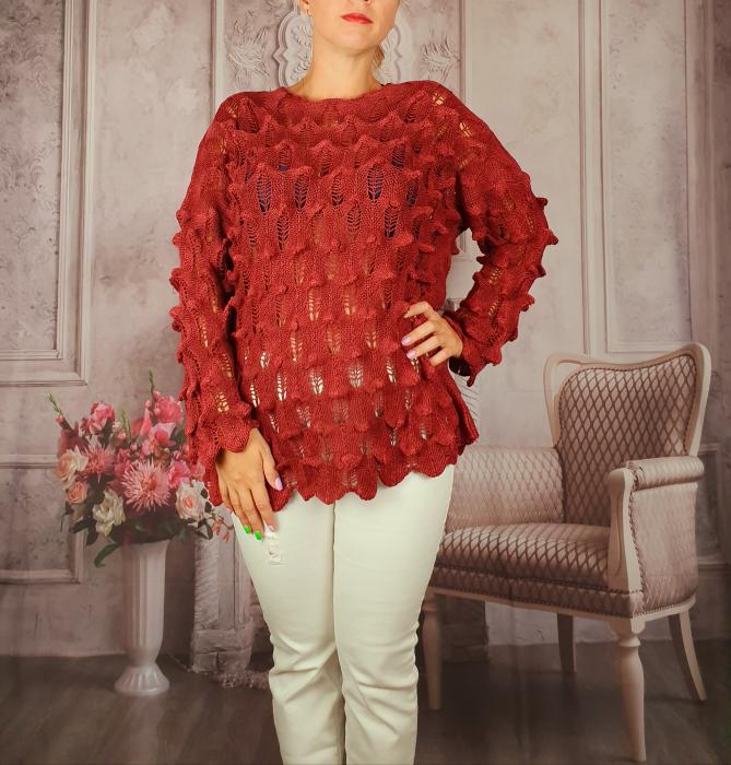 Pulover dama tricotat 3D - Sorana 7 [1]