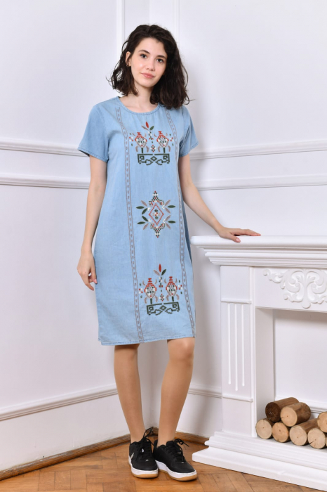 Rochie din Denim traditionala Marita [5]