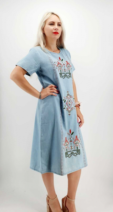 Rochie din Denim traditionala Marita [2]