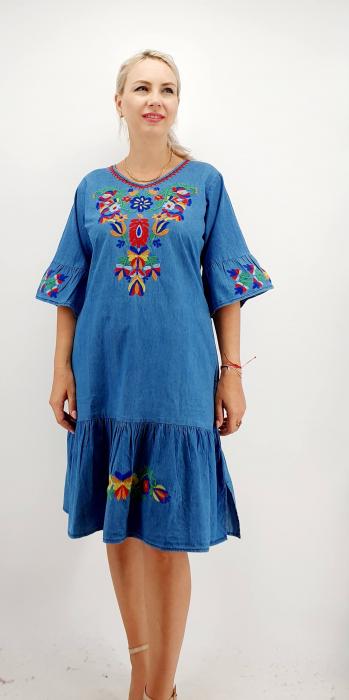 Rochie din Denim traditionala Sanda 58 [5]