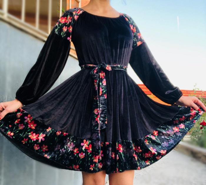 Rochie eleganta din catifea [3]