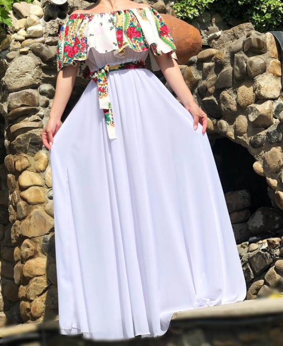 Rochie stilizata cu motive florale Natasha [2]