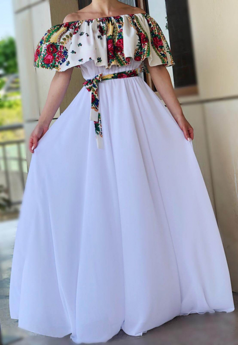 Rochie stilizata cu motive florale Natasha [1]
