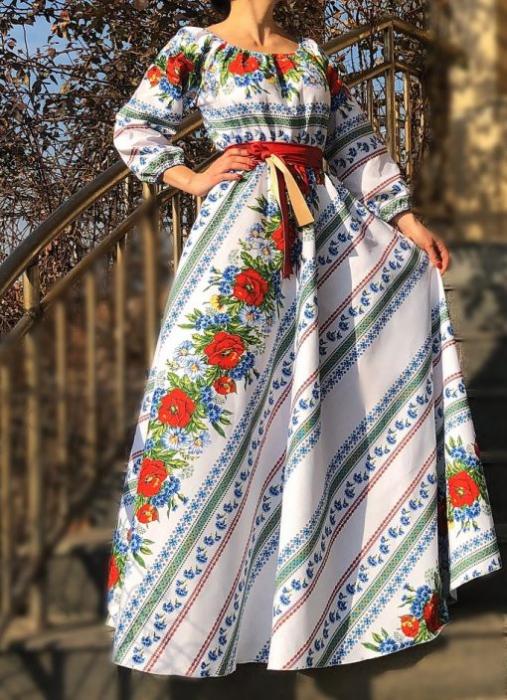 Rochie Traditionala stilizata cu maci 4 [2]