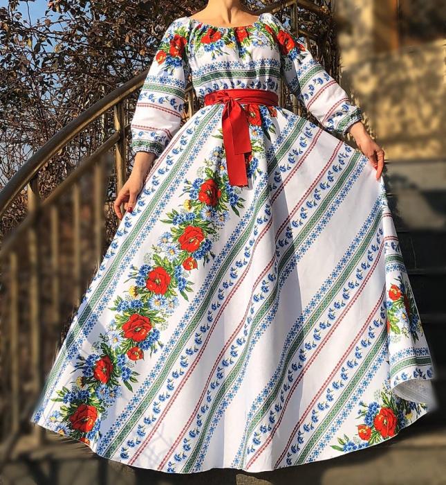 Rochie Traditionala stilizata cu maci 4 [0]