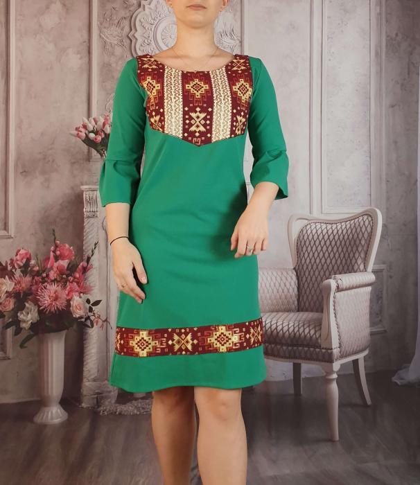 Rochie stilizata cu motive traditionale Georgiana 3 1