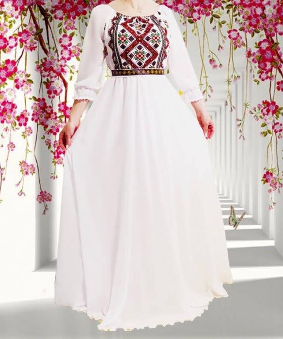 Rochie stilizata cu motive traditionale lunga Magduta [0]