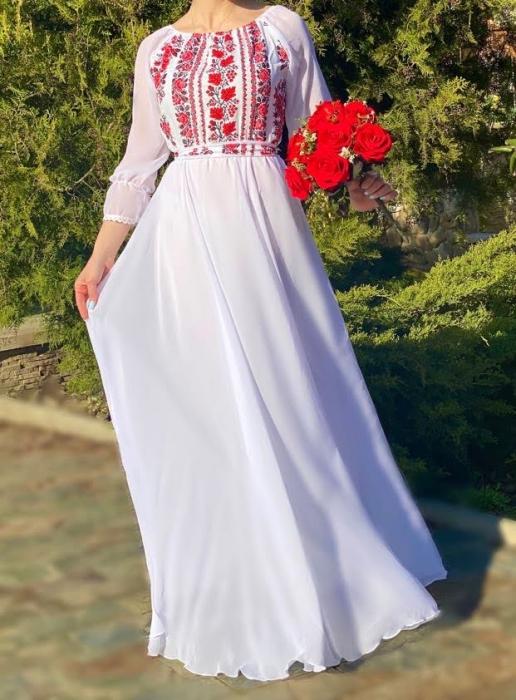 Rochie stilizata cu motive traditionale Elina [0]