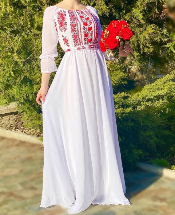 Rochie stilizata cu motive traditionale Elina [1]