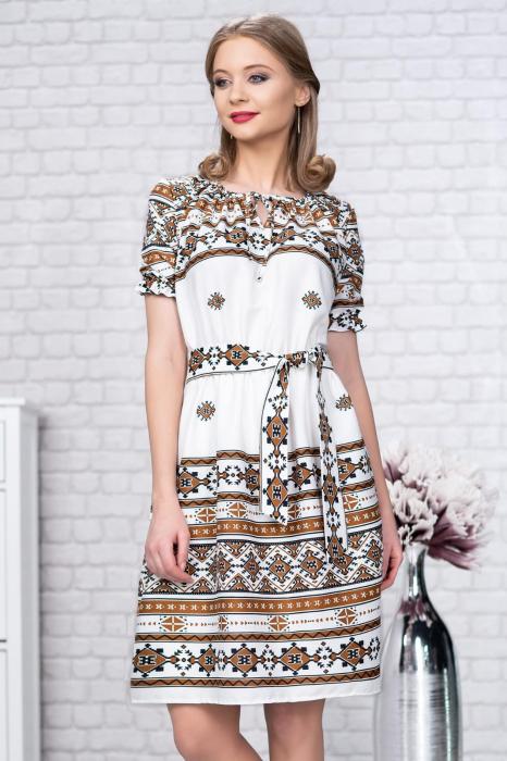 Rochie stilizata cu motive traditionale Madlen 1
