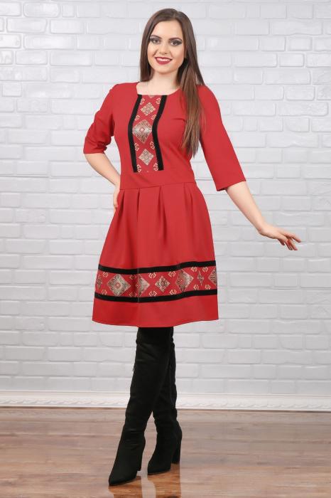 Rochie stilizata cu motive traditionale Magda 0