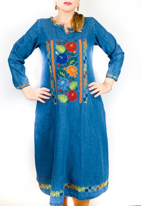 Rochie Traditionala din denim Cezara [0]
