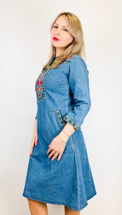 Rochie Traditionala din denim Sanda 14 [1]