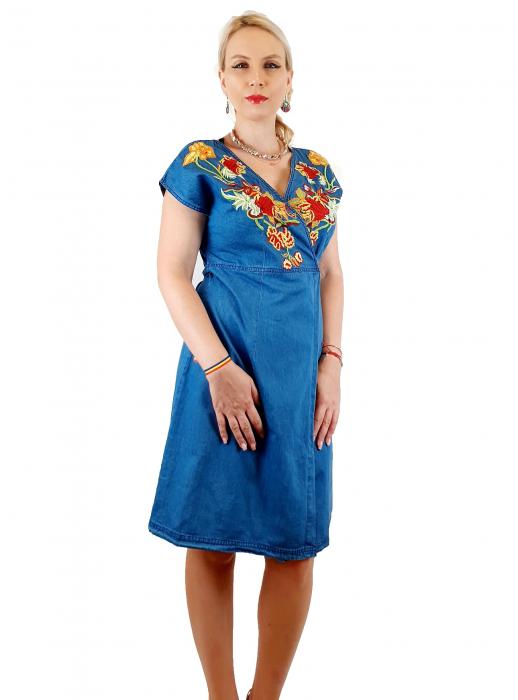 Rochie Traditionala din denim Sanda 27 [0]