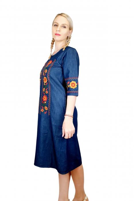 Rochie Traditionala din denim Sanda 33 [1]
