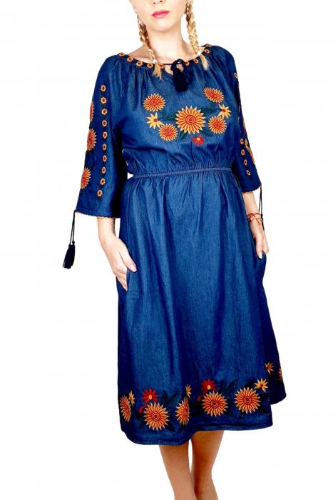 Rochie Traditionala din denim Sanda 34 [2]