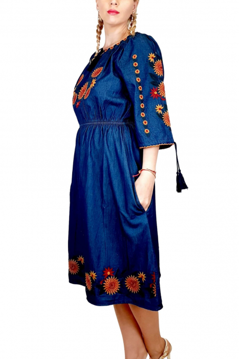 Rochie Traditionala din denim Sanda 34 [1]