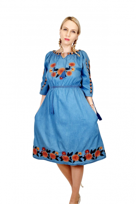 Rochie Traditionala din denim Sanda 35 [0]