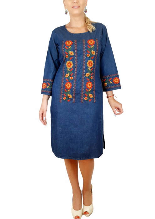 Rochie Traditionala din denim Sanda 36 [0]