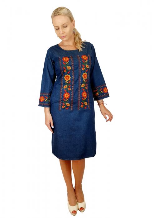 Rochie Traditionala din denim Sanda 36 [8]