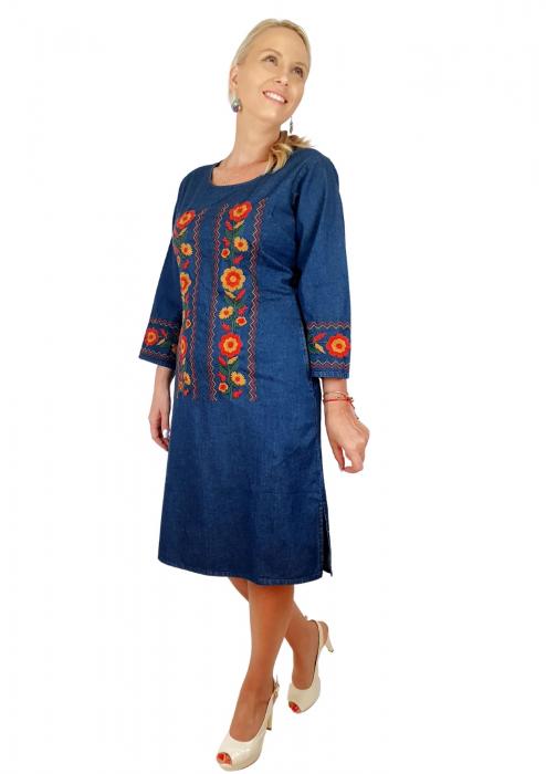 Rochie Traditionala din denim Sanda 36 [5]
