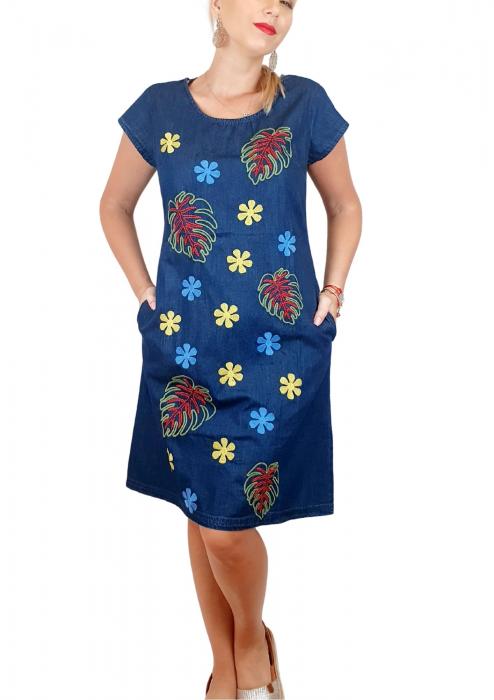 Rochie Traditionala din denim Sanda 39 0