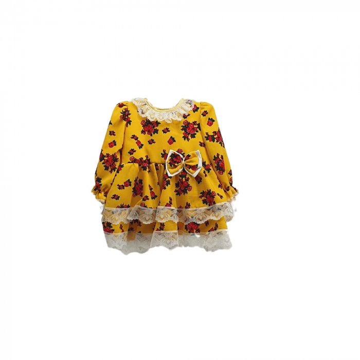 Rochita cu motive florale galbena [0]