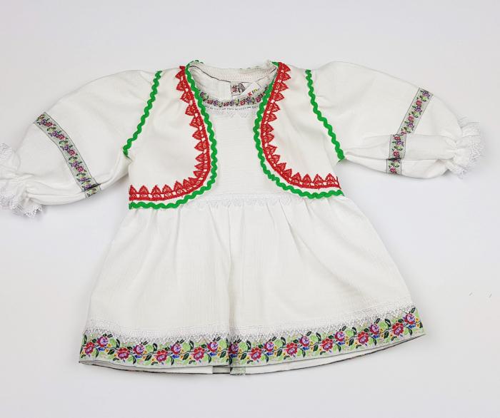 Rochita si Vesta Traditionale Fetite 0-6 luni 1