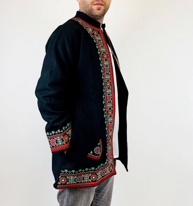 Sacou Negru Brodat - Valeriu 3 [2]