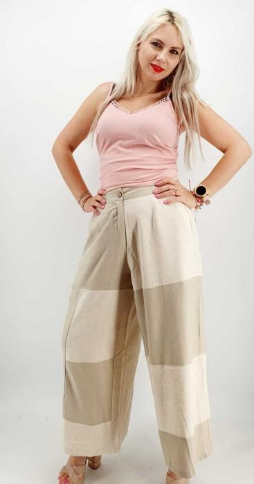 Pantaloni Salvari de vara Crem [5]