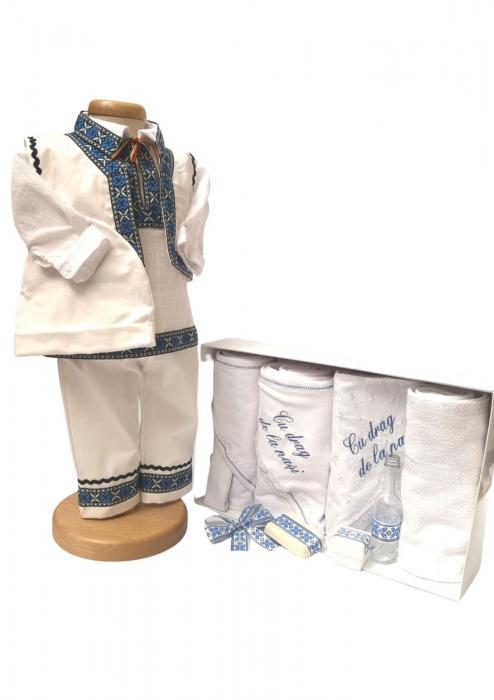 Set Botez Traditional Adi 2 – 2 piese / costumas traditional si trusou brodat 0