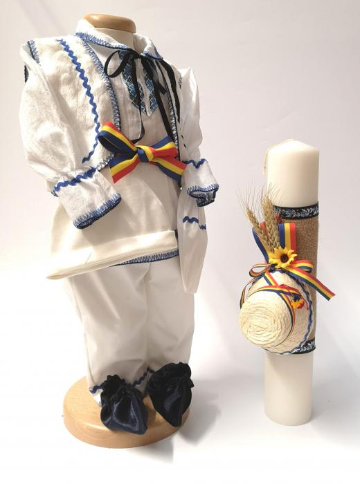 Set Costum National Victoras 7 si Lumanare Botez Traditional [0]