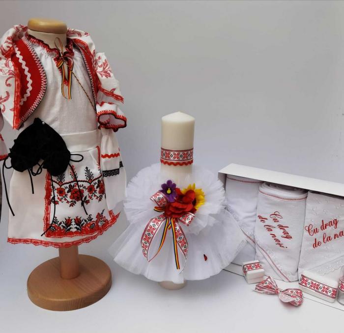 Set Botez Traditional Marina 3 - 3 piese / Botez Traditional : costumas , trusou si lumanare 1