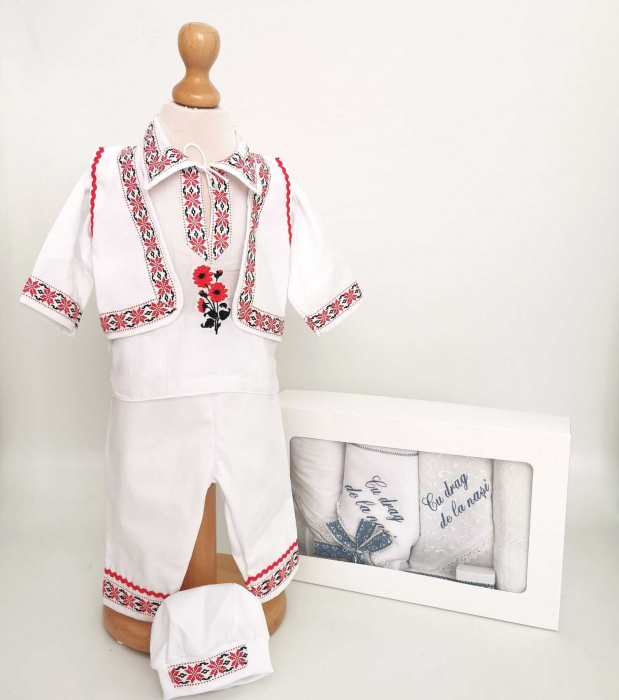Set Botez Traditional Raul 24 – 2 piese / costumas traditional si trusou Botez Traditional [0]