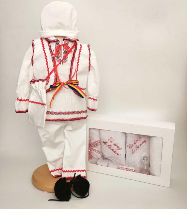 Set Costum National pentru baieti Victoras 9 si Trusou Botez Traditional [0]
