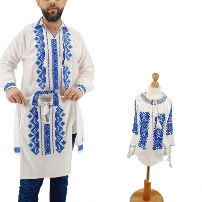 Set Familie Traditionala 144/ Camasi traditionale cu broderie [0]