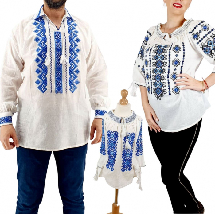 Set Familie Traditionala 142 / Camasi traditionale cu broderie [0]