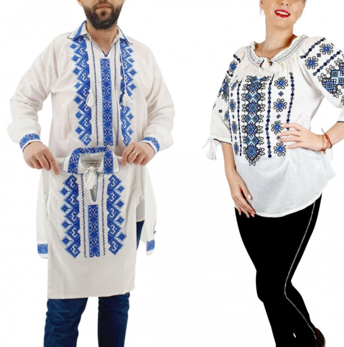 Set Familie Traditionala 143 / Camasi traditionale cu broderie [0]