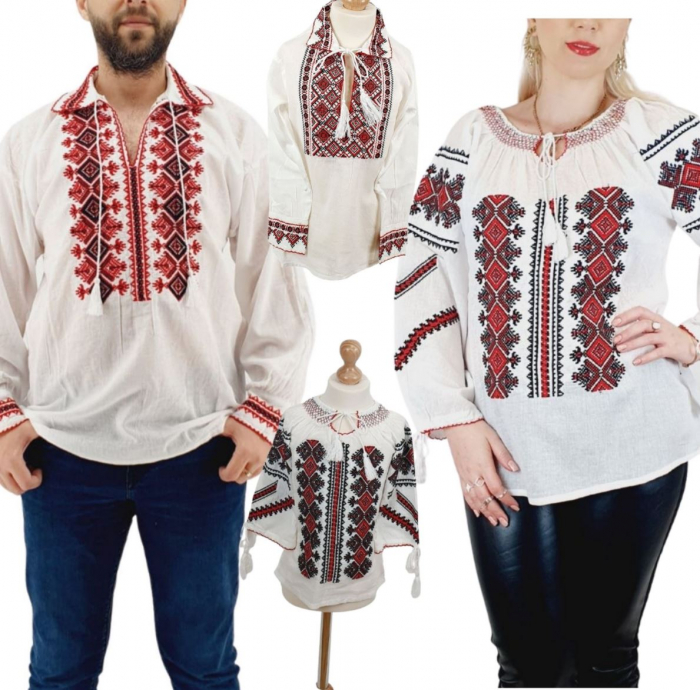 Set Familie Traditionala 151 / Camasi traditionale cu broderie [0]