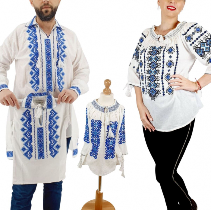 Set Familie Traditionala 141 / Camasi traditionale cu broderie [0]