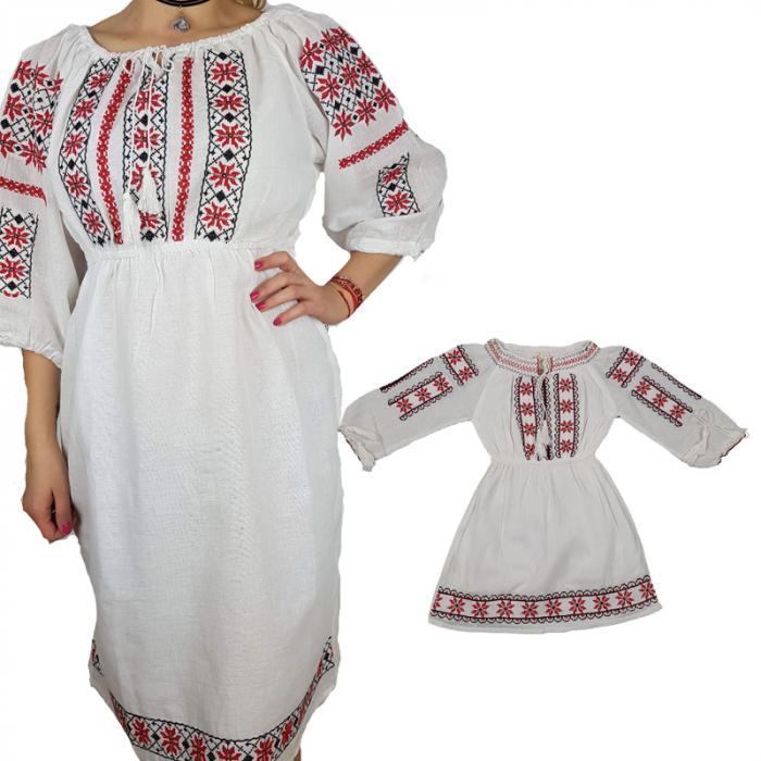 Set rochii traditionale Mama - Fiica Bianca [0]
