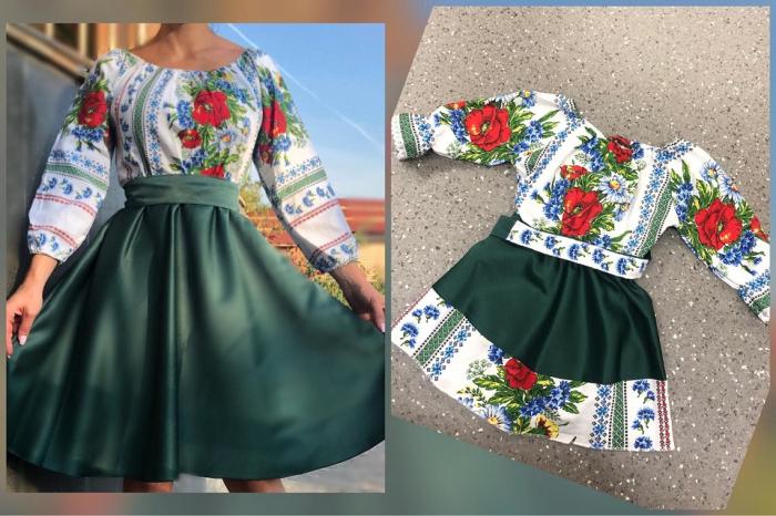 Set Rochii elegante Mama - Fiica - Verde [0]