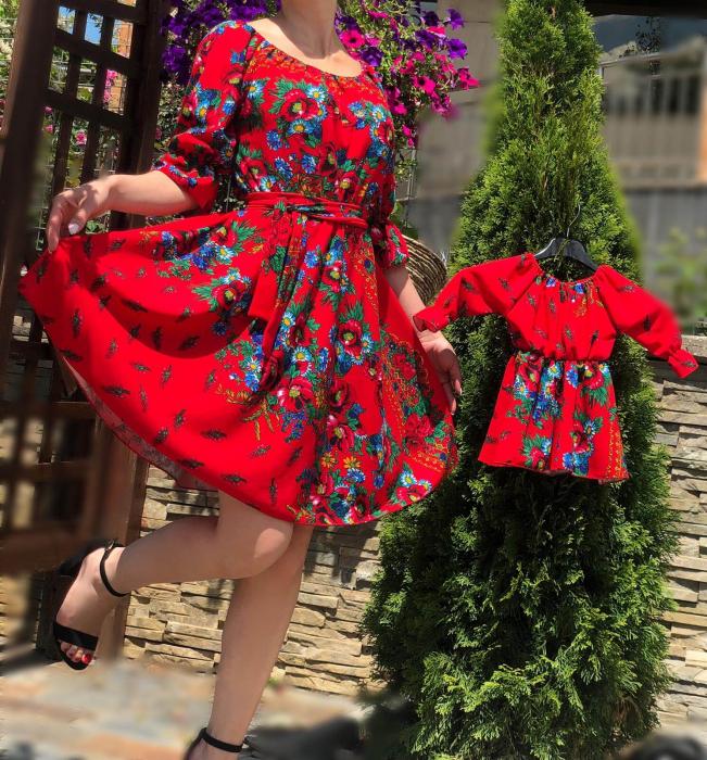 Set Rochii mama si fiica cu motive florale 2 [0]